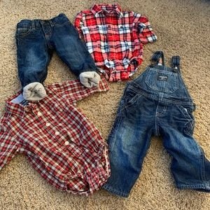 OshKosh B'gosh outfits size 9 months plaid